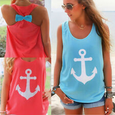 many colors of Sexy Women Summer Casual Sleeveless Bowknot Shirt Vest Tank Top