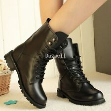 Womens High Ankle Lace Up Punk Sneaker Creepers Wedge Platform Boots Flat