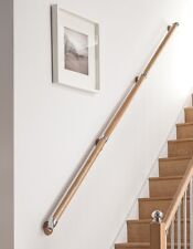 Axxys Wall Handrail Kit - Rail in Box Set, Chrome, Brushed, Pine, Oak Stairparts