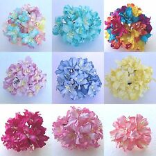 50 Lily Mulberry paper flowers - Scrapbook, card, wedding, craft