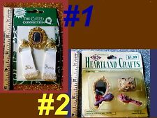 VICTORIAN Miniature Craft Scrap Book Cards Dollhouse Toys Pretend Home Girl SETS
