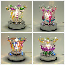 Glass Multi Colored Electric Touch Lamp With LED Light Oil Warmer Fragrance Lamp