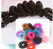 10pcs Girl Elastic Rubber Hair Ties Band Rope Ponytail Holder Durable Portable P
