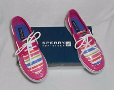SPERRY TOP-SIDER Bahama Hot Pink/Multi Girls Boat Shoes - NIB