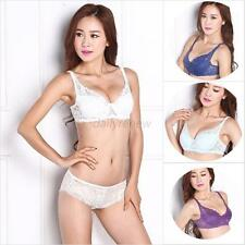 Fashion Women Sexy Underwire Bra Push Up Padded Lace Sheer Bra 32-40B 7COLOR D29