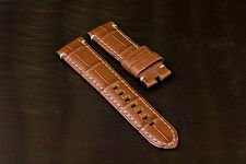 For PANERAI - Genuine Alligator Skin Straps for TANG BUCKLES 22/20mm - 5 Colors