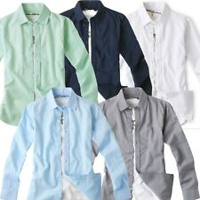 5 COLORS Men s slim fit linen cotton basic summer solid shirts online sale UK US