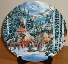 "BEFORE THE HUNT by Kirk Randle 1st issue in Sacred Circle 8.5"" collectors plate"