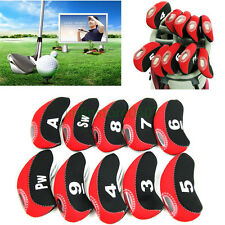 10pcs Golf Club Iron Covers Headcover Neoprene Protector For Taylormade Titleist