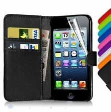 Flip Wallet Leather Case Cover For Apple iPhone 4 4S + FREE Screen Protector