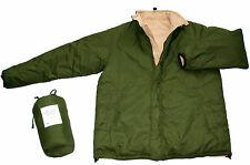 BIVVY - REVERSIBLE Thermal Jacket in Olive-Sand: Sizes XS To 4XL. #66307