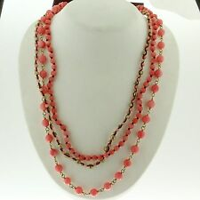 """Chan Luu Pink Coral Multi Strand Necklace 17"""" Retails for $345 NG-9328"""