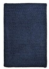 Colonial Mills Simple Chenille Rectangle Country Braided Rug Navy Blue M503