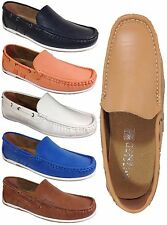 Men Brixton New Leather Driving Casual Shoes Moccasins Slip On Loafers AW1