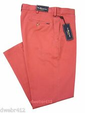 Men's Polo Ralph Lauren BIG & TALL CLASSIC FIT Chino Stonewashed Twill Red Pants