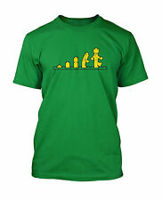 Lego Evolution Funny Mens Unisex T-Shirt in 10 Colours (S to 3XL) from Glare UK