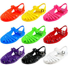 Women Strap Jelly Sandals Fisherman Gladiator Slingback Summer Shoes #Angel-Low