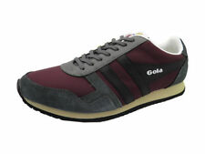 Mens Boys New Gola Spirit Trainers Shoes Pumps in Burgundy / Grey / Black UK 8