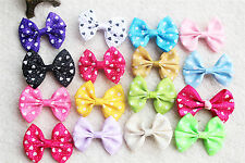 Hot Cute Pet Dog Hair Clips Large Bowknot Heart Style Pet Grooming bows Topknot