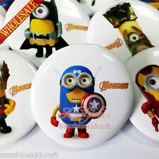 New Minions/Despicable me Tin Buttons pins BROOCH badges 30MM clothes decoration