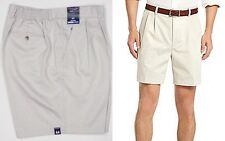 NWT Roundtree & Yorke Big & Tall Travel Smart Pleated Easy Care Elastic Shorts