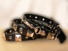 New Dog Pet Puppy Rock Style Leather Buckle Neck Adjustable Collar