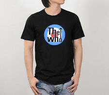 THE WHO Logo Black Retro VTG Men Tee Top Rock Music Band Concert T-Shirt Sz S-XL