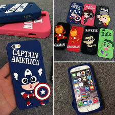 3D Cute Avengers Superhero Hero Silicone Soft Case Cover for iPhone5 5S 6 6Plus
