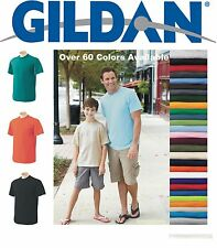 100 Gildan T-SHIRTS BLANK BULK LOT Colors or 115 White Plain S-XL Wholesale 50