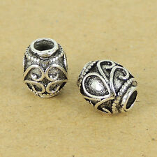 Sterling Silver Bead Vintage Celtic 925 Barrel Charm DIY Jewelry Making WSP324
