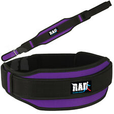 RAD™ Women's Weight Lifting Belt Back Support Gym Workout Power Limiting Purple