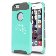For Apple iPhone 5 5s 5c 6 Plus Shockproof Impact Hard Case Cover Horse Head