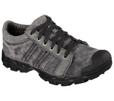 Skechers GANDER BURMAN Mens Gray 64380 Memory Foam Lace Up Casual Athletic Shoes