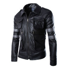 Resident Evil Leon Motorcycle Racing Pu Leather Armor Motorcycle Riding Jacket