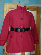 TOMMY & KATE BOUTIQUE RED  LADIES COAT NWT UK SIZE 16