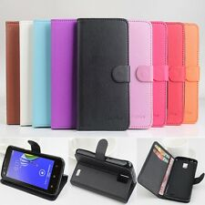"""New Build-in Wallet Leather Case Cover Skin For 4.5"""" Lenovo A328T Mobile Phone"""