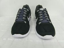 New! Nike Mens LunarGlide+ 5 Running Shoes-599160-010-Black/White-Gray  78M