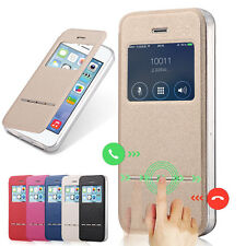 Smart Sensor View Window Flip Leather Hard Case Cover Skin For Apple iPhone 5 5S