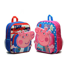 Kid's Children Cartoon Pig School Bag Rucksack Backpack 2 Styles for Boy & Girl