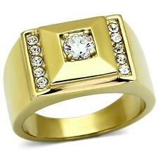18K GOLD EP .60CT MENS DIAMOND SIMULATED RING sz 9-13 you choose