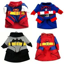 Batman Superman Spinderman Costume Sweater Coat Cape Small Dog Cat Puppy Clothes