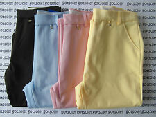 LADIES ADIDAS ORIGINALS WOMEN'S FORMAL GOLF TROUSERS PINK/BLUE/YELLOW/OLIVE £50
