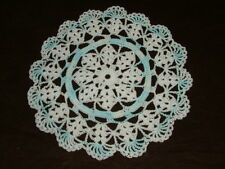 New Hand Crocheted Doily - white, and multicolor