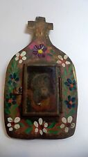 Old Tin Nicho with Jesus Door Opens Mexican Folk Art Religious mexico catholic