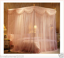 Bedroom canopy bed curtain frames palace anti-mosquito net queen king size pink