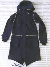 ADIDAS SLVR 'FISHTAIL PARKA' NAVY/BLUE JACKET TRENCH PARKER COAT - W49380 - £180