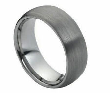 8mm Men's or Ladies Tungsten carbide Domed Brushed Finish wedding band ring