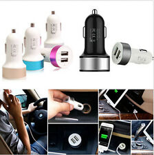 Car Charger Adaptor Bullet Dual USB 2-Port for iPhone 5S 6 Samsung Cellphone New