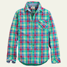Timberland Men's Allendale Slim Fit Double Layer Red & Green Shirt Style #7012J