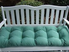 Solid Spa Tufted Cushion for Bench ~ Swing ~ Glider - Choose Size